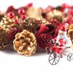 きらびやかなクリスマスの飾り付け
